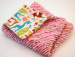 Pink Chenille Burp Cloth