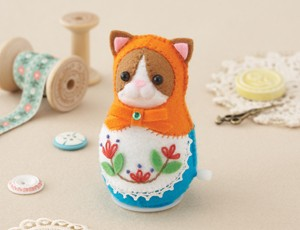 Orange Cat Felt Doll
